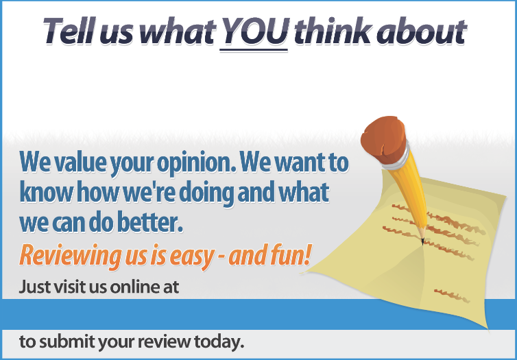 customer feedback card example