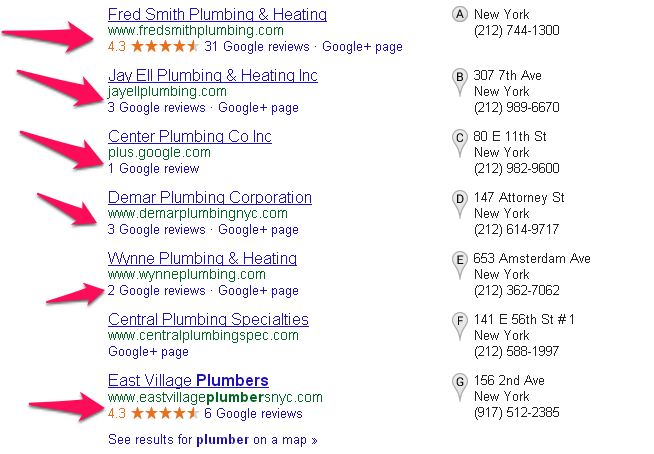 More Business Reviews in the Google Search Results